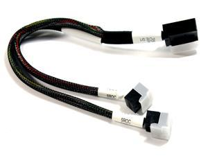 LENOVO DUAL HD MINI SAS 10.3 INCH / 12 INCH CABLE FOR LENOVO THINKSERVER RD650 / STORAGE N4610 - 12GB/S SFF-8643 RIGHT ANGLE TO STRAIGHT / UPRIGHT CONNECTOR - MB PCIE0/1 TO ( 2 ) TWO SROC PCIE 0 / SRO