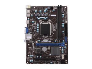 MSI B75MA-E33 LGA 1155 Intel B75 HDMI SATA 6Gb/s USB 3.0 Micro ATX Intel Motherboard with UEFI BIOS