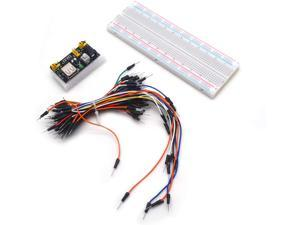 Tulead Breadboard Kit Solderless Breadboards 830 Points Prototype Board with Power Supply,Jumper Cables