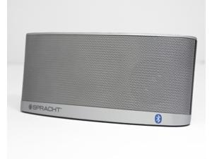 Spracht Blunote2.0 Portable Bluetooth Speaker System - 10 W RMS - Silver - Battery Rechargeable - USB