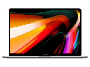 "Apple MacBook Pro 16"" True Tone Laptop (Touch Bar, 9th Gen 6-Core Intel Core i7 2.60GHz, 16GB RAM, 512GB Flash, AMD Radeon Pro 5300M 4GB) Silver - A2141"