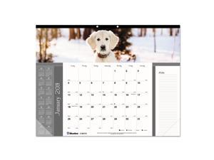 Pets Collection Monthly Desk Pad, 22 x 17, Puppies, 2021 C194116