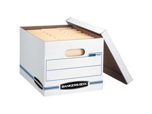 """Fellowes Stor/File Boxes w/Lid Ltr/Lgl 12""""x15""""x10"""" 20/CT White 0070333"""