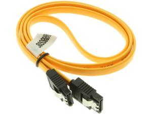 """SATACables 28"""" Yellow Latching SATA III Straight to Straight (30SS685YL)"""