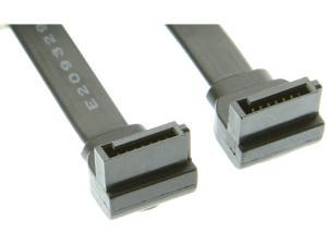 """SATACables 8"""" SATA Device Cable Right to Right Angle"""