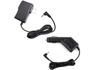 2A Car Charger + AC Wall Power Adapter Cord for Kocaso Android Tablet MID GX1400, 4 Feet, with LED Indicator