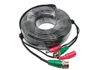 Swann 60 feet RG59 Siamese Combo Cable with BNC connectors and 2.1mm Power Jack for TVI, CVI, AHD and HD-SDI Camera System