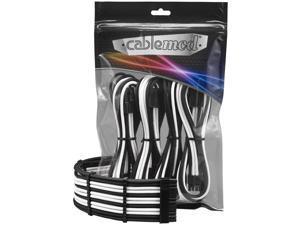 CableMod PRO ModFlex Cable Extension Kit - 8+6 Series - Black/White [CM-PCAB-BKIT-86KKW-3PK-R]