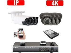 Amview 24ch HD 1080P hybrid HD DVR HD 1.3MP 36IR LEDs  2.8-12mm varifocal Zoom Dome CCTV Security Camera System