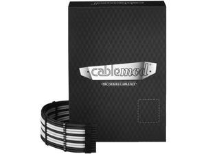CableMod PRO ModMesh C-Series AXi, HXi & RM (Yellow Label) Cable Kit - Black/White