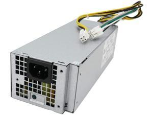 LXun L240ES-00 H240ES-02 B240AM-02 240W Power Supply Compatible with Dell OptiPlex 3050 5050 7050 Mini Tower J61WF DK87P F484X DW3M7 HT04K (6Pin + 4Pin Connector)