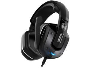 SOMIC G909PRO 7.1 Virtual Surround Sound USB Gaming Headset Over Ear Bass Headphone for PS4,PC with Mic,Volume Control,LED(Black)