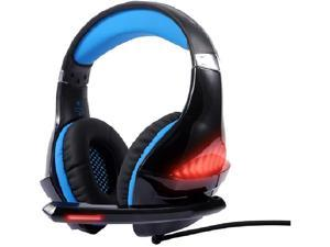 Gaming Headset Xbox One Headset with 7.1 Surround Sound Stereo, PS4 Headset with Noise Canceling Mic & LED Light, Compatible with PC, PS4, Xbox One Controller,Blue