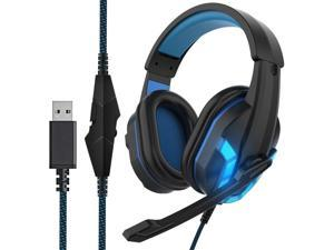 HIFI WALKER SY904 Newest Gaming Headset, with Noise Cancelling Mic, 7.1 Virtual Surround Sound, USB Gaming Headphones for PC, Laptop, PS4, Switch