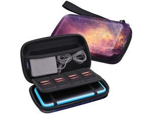 Fintie Carry Case for Nintendo 2DS XL/New 3DS XL LL, Protective Hard Shell Portable Travel Cover Pouch for New 3DS XL LL/New 2DS XL Console with Slots for Games & Inner Pocket (Galaxy)