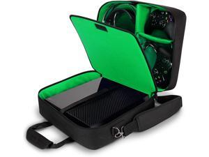 Xbox One/Xbox 1 Travel Case Console Bag with Kinect Storage, Adjustable Carrying Shoulder Strap, Games Pockets, and Accessory Pockets for Play & Charge Kit, Wireless Controller, Headset & More