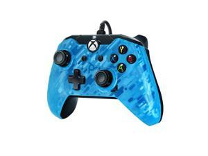 PDP Stealth Series Wired Controller for Xbox One, Xbox One X and Xbox One S, Revenant Blue