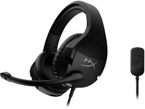 HyperX Cloud Stinger S – Gaming Headset, for PC, Virtual 7.1 Surround Sound, Lightweight, Memory Foam, Soft Leatherette, Durable Steel Sliders, Swivel-to-Mute Noise-Cancelling Microphone, Black