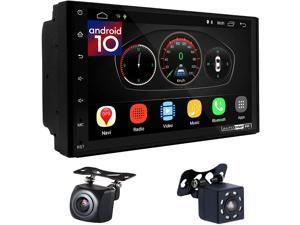 """UGAR EX10-DSP 7"""" Android 10.0 Car Stereo 2GB 16GB with Front & Rear View Camera Head Unit Bluetooth WiFi Double Din Radio Car Audio Indash GPS Navigation Touch Screen"""