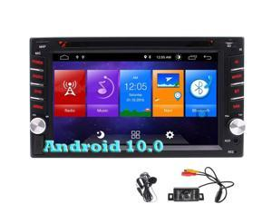 Android Car Stereo Navigation Car Radio with CD Player Bluetooth Double 2 Din in Dash GPS Nav Headunit Car DVD Audio 6.2 Inch USB SD Multimedia Entertainment AUX Touchscreen with Rear View Camera