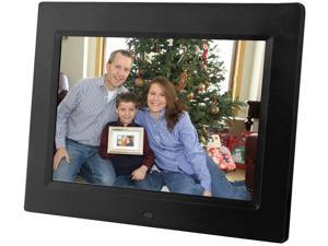 8 inch Digital Photo Frame & Multimedia Player - Display Videos & Photos & Set Music to Play. Includes 4GB Internal Storage, SD Card & USB Connections, & a Variety of Transition Effects