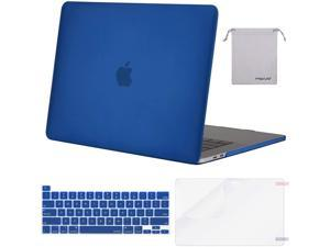 MOSISO Compatible with MacBook Pro 16 inch Case 2020 2019 Release A2141 with Touch Bar Touch ID, Protective Plastic Hard Shell Case & Keyboard Cover & Screen Protector & Storage Bag, Royal Blue