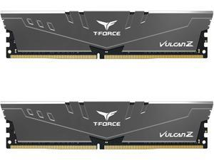 TEAMGROUP T-Force Vulcan Z DDR4 64GB Kit (2x32GB) 3000MHz (PC4-24000) CL16 Desktop Memory Module Ram (Gray) - TLZGD464G3000HC16CDC01