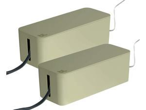 Bluelounge CableBox Cable and Cord Management System - (Light Sage) - Pack of 2