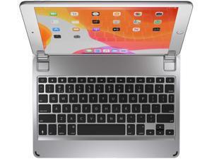 Brydge 10.2 Wireless Keyboard Compatible with iPad (7th Gen, 2019 & 8th Gen, 2020), Backlit Keys, Long Battery Life (Silver)
