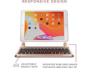 Brydge 10.2 Wireless Keyboard | Compatible with iPad (7th Gen, 2019 & 8th Gen, 2020) | Backlit Keys | Long Battery Life | (Gold)