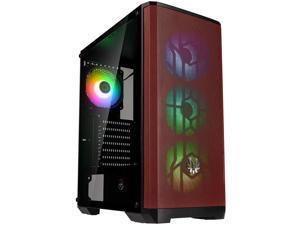 BitFenix Nova Mesh SE TG ARGB Edition PC Gaming Case, Black/Red Mesh ATX/Micro ATX/Mini ITX Temper Glass Aura SYNC/Mystic Light/RGB Fusion 2.0, BFC-NSE-300-KKGSR-4A