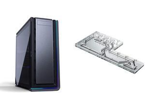 Phanteks Enthoo 719 (PH-ES719LTG_DAG01) High Performance Full Tower Case \u2013 Tempered Glass, Aluminum Panels & D140 Distribution Plate. Mirror Acrylic Backplate, Digital-RGB LED
