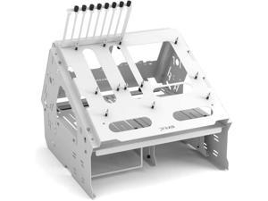 Praxis WetbenchSX Open Air Computer Test Bench Basic - Angled Edition - White