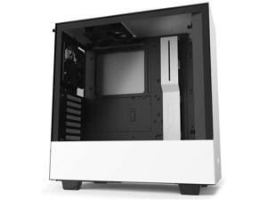 NZXT H510 - CA-H510B-W1 - Compact ATX Mid-Tower PC Gaming Case - Front I/O USB Type-C Port - Tempered Glass Side Panel - Cable Management System - Water-Cooling Ready - White/Black