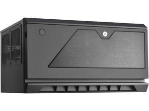 "SilverStone Technology CS381B Micro-ATX/Mini-DTX/Mini-Itx 8 Bay Hot Swap 2.5""/3.5"" SAS-12G/SAS-6G NAS Storage Case with 2X 120mm Dual Ball Bearing Fan, Black"