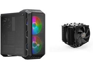 Cooler Master MasterCase H500 ARGB Airflow ATX Mid-Tower & be Quiet! Dark Rock Pro 4, BK022, 250W TDP, CPU Cooler