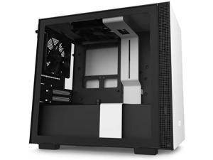 NZXT H210i - CA-H210i-BR - Mini-ITX PC Gaming Case - Front I/O USB Type-C Port - Tempered Glass Side Panel Cable Management - Water-Cooling Ready - Integrated RGB Lighting - Black/Red