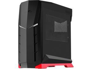 SilverStone Technology ATX Tower Case, 90 Degree Motherboard Rotation with Window, Black & Red CS-RVX01BR-W