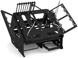 Praxis WetbenchSX Open Air Computer Test Bench Complete - Angled Edition - Black