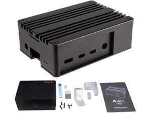 Akasa Pi-4 Pro | Fanless Raspberry Pi 4 Case | Fanless Case | Full Aluminium | Thermal Kit | eTeknix Editor's Choice Award | A-RA08-M2B | Compatible with Raspberry Pi 4 Model B