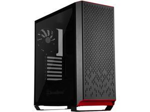 SilverStone Technology Metal ATX Computer Tower Case with Tempered-Glass Side Panel and Ample Air Flow in Black (SST-PM02B-G)