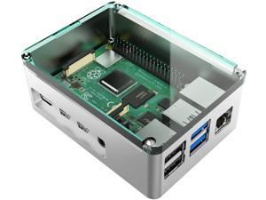 anidees Aluminum Pi case for Raspberry Pi 4 Model B - Silver(AI-PI4-SG)