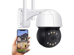 Outdoor Surveillance Camera WiFi 1080P high-Definition IP Camera, Two-Way Voice, Color Night Vision, Sound Alarm, Humanoid Tracking,Remote Viewing, IP66 Waterproof (WiFi Camera)