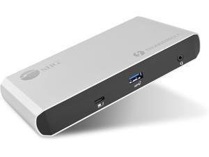 SIIG Thunderbolt 3 or USB C Dual 4K Display Docking Station with 60W Laptop Charging - Titan Ridge (1x USB 3.0, 2x USB 3.1, 2x DP 1.2, 2x USB-C, Ethernet) for Windows PC & MacBook Pro JU-DK0C11-S1