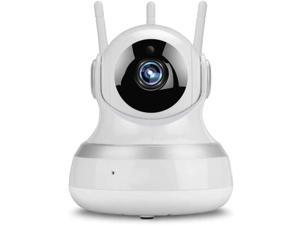 Qin 1080p HD Indoor Wireless Smart Home Camera with Night Vision, WiFi IP Camera 1080P HD Wireless Indoor Home Security Surveillance Camera with Night Vision Motion Detection Playback (Color : 3MP)