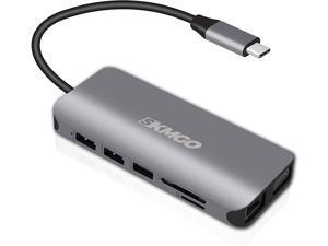 SkmGo 11-in-1 Type C USB Hub, MacBook & Windows Dock Station,1 Type C PD3.0 Charging Port, 2 x USB 3.0 Total 4 USB Ports, 1 HDMI Port, 1 VGA Display Port,1 x G Ethernet,1 VGA Port, SD/TF Card Reader