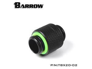 """Barrow G1/4"""" Male to Male Anti-Twist Rotary Adaptor Fitting - Black (TBX2D-02)"""