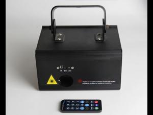 X-100 RGB 400mw Full Color 3D Effect SD Program Card ILDA 24CH DMX Kaleidoscope Laser Animation Scan LED Stage Lighting PRO DJ DiscoShow Lights - DAC5-RGB400 Mini IR Remote Laser Scanner