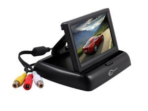 Foldable 4.3 Inch Anti-Glare Color LCD TFT Rear View Monitor Screen, 180 Degree Adjustable for Car Backup Camera