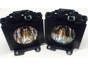 Panasonic Original Ushio ET-LAD57W Lamp & Housing TwinPack Projectors - 240 Day Warranty